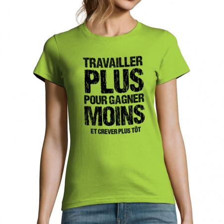 T-shirt femme Travailler...