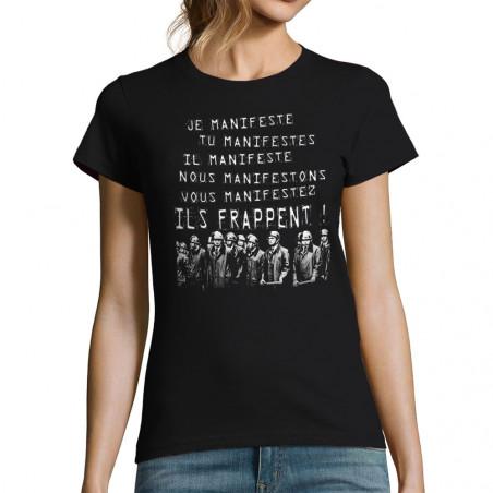 T-shirt femme Je manifeste