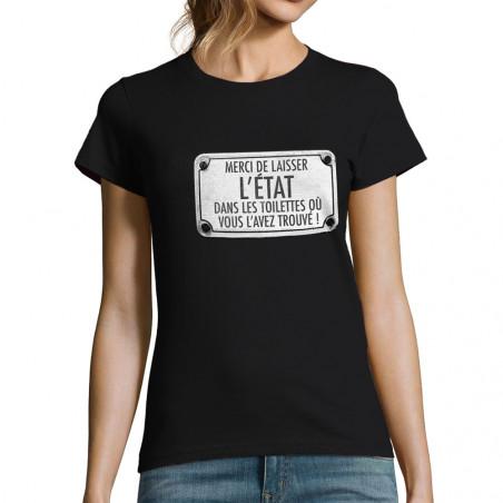T-shirt femme Merci de...