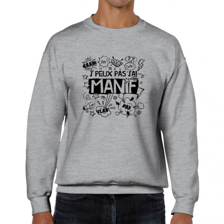 Sweat homme col rond J'peux...