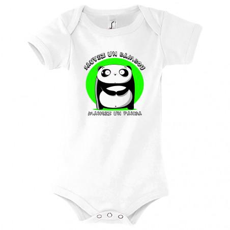 "Body bébé ""Sauvez un bambou"""