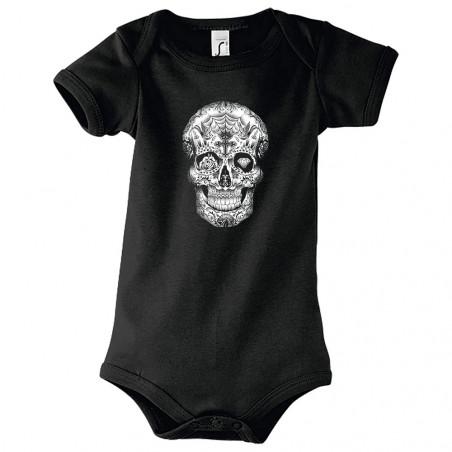 "Body bébé ""Tattooed Skull"""