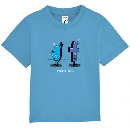 """Tee-shirt bébé """"Asocial..."""