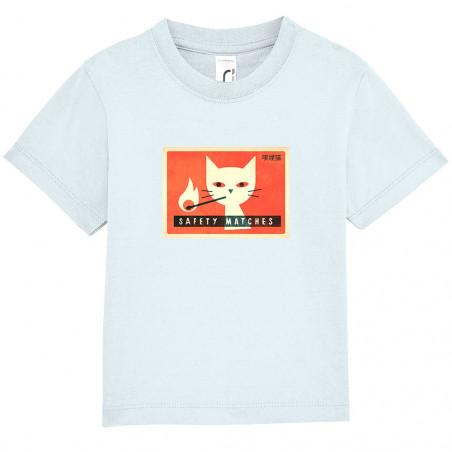 "Tee-shirt bébé ""Cat Safety..."