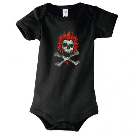 "Body bébé ""Punk Skull 2"""