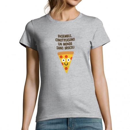 """T-shirt femme """"Construisons..."""