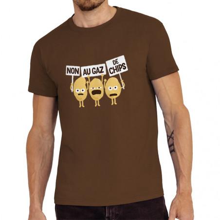 """Tee-shirt homme """"Non au gaz..."""