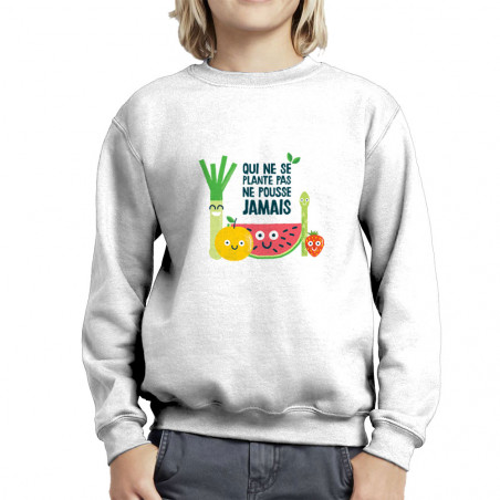 "Sweat enfant col rond ""Qui..."