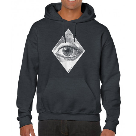 "Sweat homme à capuche ""Eye"""