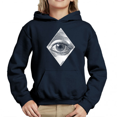 "Sweat enfant à capuche ""Eye"""