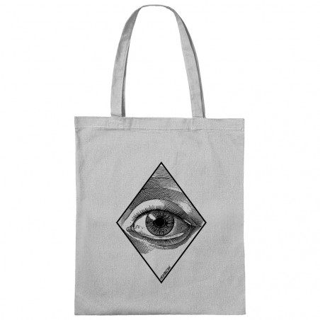 "Sac shopping en toile ""Eye"""