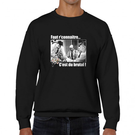 "Sweat homme col rond ""Faut..."