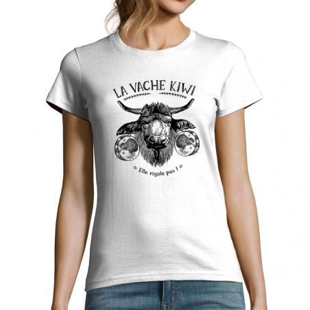 "T-shirt femme ""La vache kiwi"""
