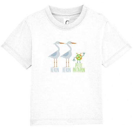 """Tee-shirt bébé """"Héron Héron..."""