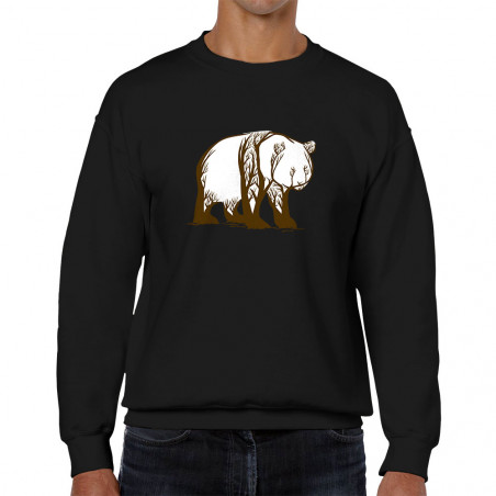 """Sweat homme col rond """"Panda..."""