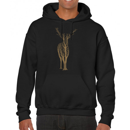 "Sweat homme à capuche ""Deer..."