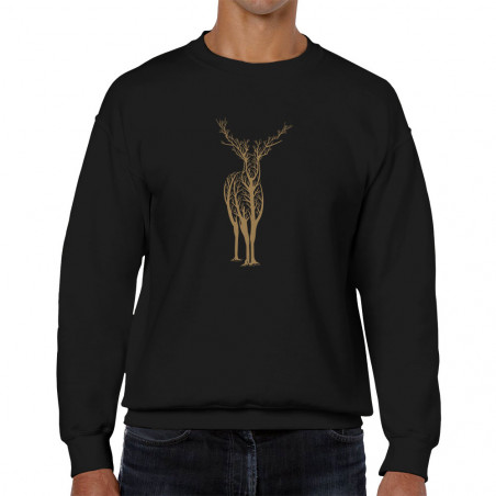 "Sweat homme col rond ""Deer..."