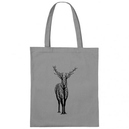 "Sac shopping en toile ""Deer..."