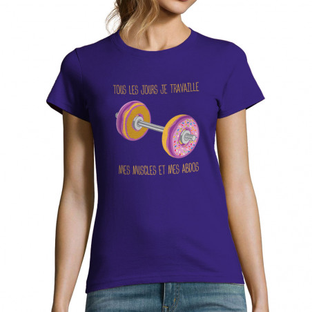 "T-shirt femme ""Donuts Muscles"""