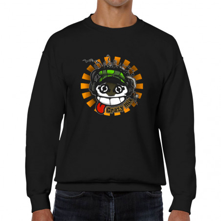 """Sweat homme col rond """"Crazy..."""