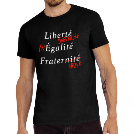 """Tee-shirt homme """"Liberté..."""