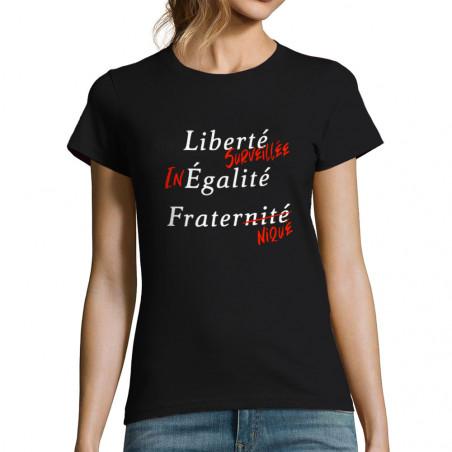 """T-shirt femme """"Liberté..."""