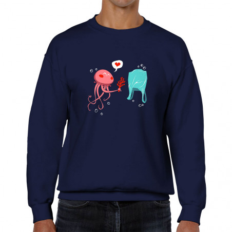 "Sweat homme col rond ""Méduse"""