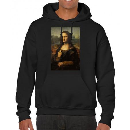 """Sweat homme à capuche """"Mona..."""