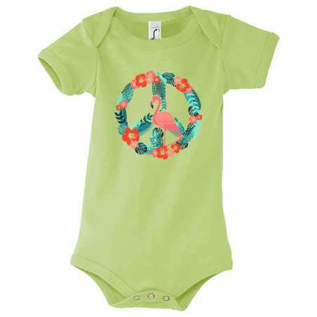 "Body bébé ""Flamingo Peace"""