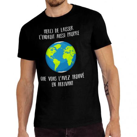 "Tee-shirt homme ""Merci de..."