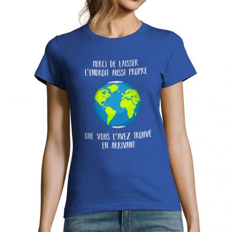 """T-shirt femme """"Merci de..."""