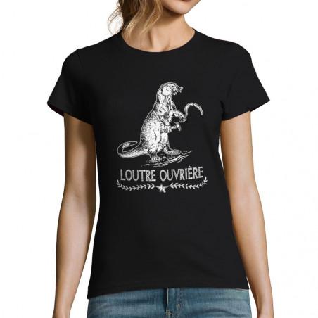 "T-shirt femme ""Loutre..."