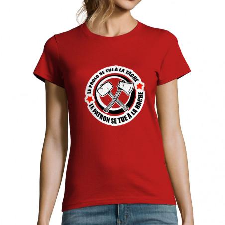 """T-shirt femme """"Le prolo se..."""