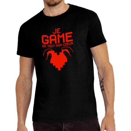 """Tee-shirt homme """"Je game de..."""