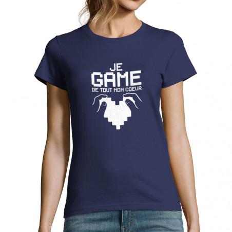 "T-shirt femme ""Je game de..."