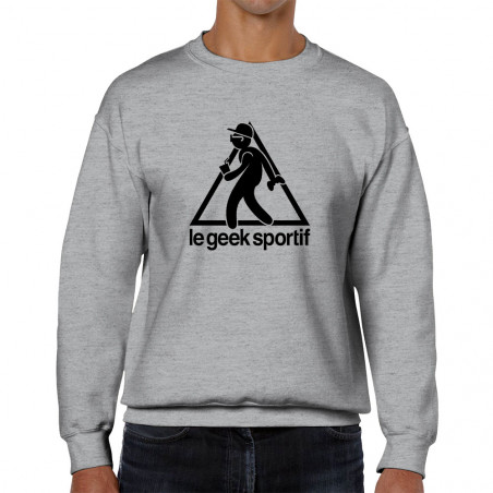 "Sweat homme col rond ""Geek..."
