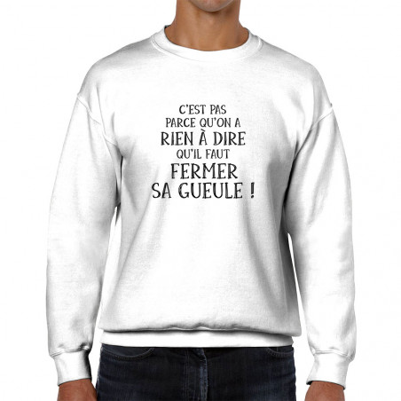 """Sweat homme col rond """"Rien..."""