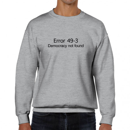 "Sweat homme col rond ""Error..."
