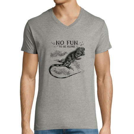 "T-shirt homme col V ""No Fun..."