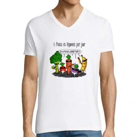 """T-shirt homme col V """"5..."""