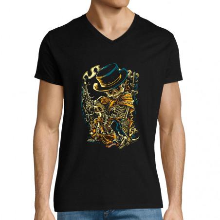 "T-shirt homme col V ""Santa..."