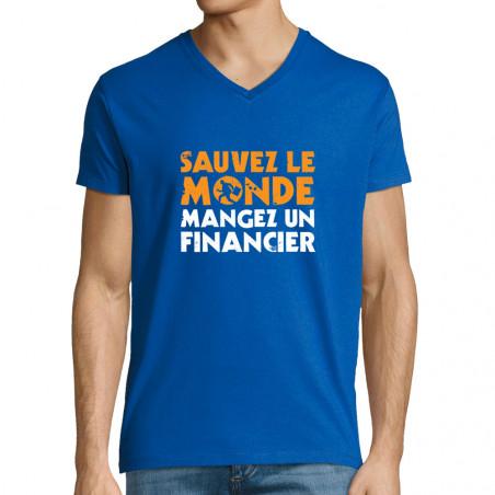 """T-shirt homme col V """"Sauvez..."""