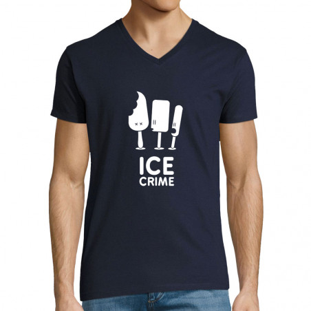 "T-shirt homme col V ""Ice..."