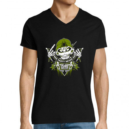 "T-shirt homme col V ""Free..."