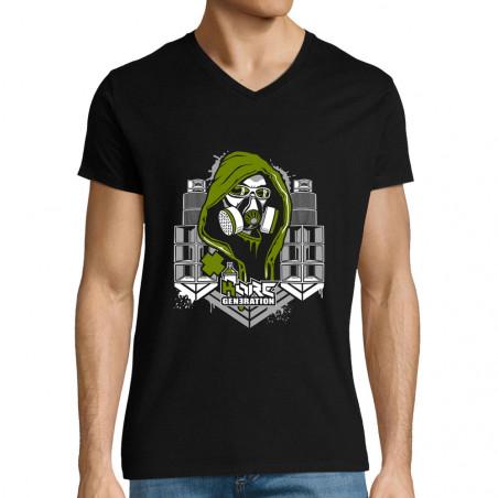 "T-shirt homme col V ""Kore..."