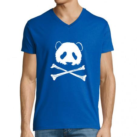 """T-shirt homme col V """"Panda..."""