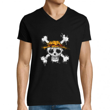 "T-shirt homme col V ""One..."