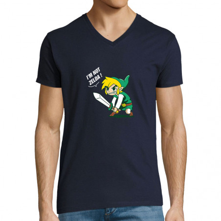 "T-shirt homme col V ""I 'm..."