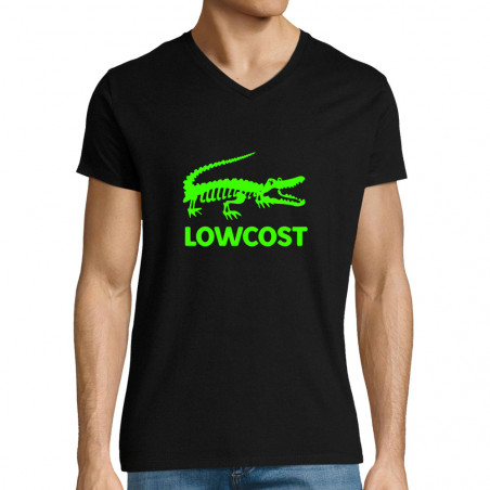 """T-shirt homme col V """"Lowcost"""""""