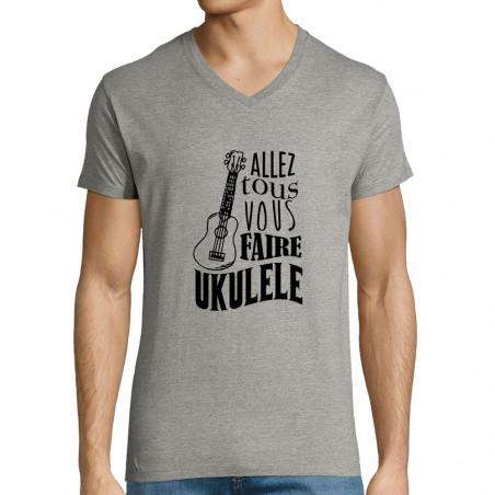 """T-shirt homme col V """"Allez..."""